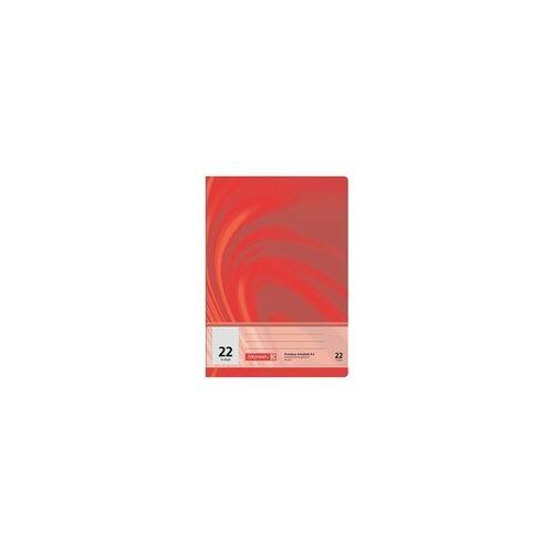 Brunnen Schulheft »Vivendi 104472202« A4 liniert (Lineatur 22) rot, Brunnen