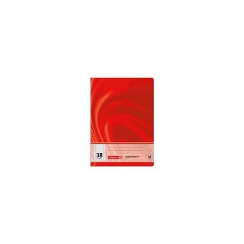 Brunnen Schulheft »Vivendi 104473802« A4 kariert (Lineatur 38) rot, Brunnen