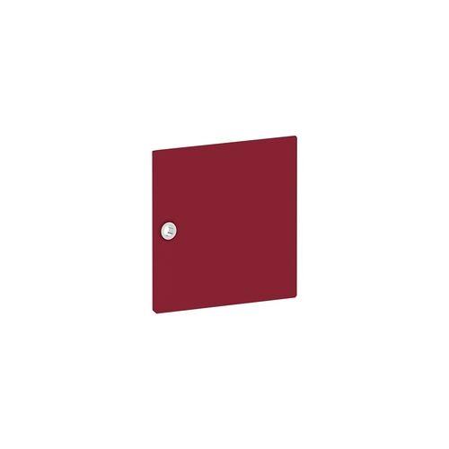 Viasit Tür für Regal »System 4« schmal rot, viasit, 37.5x37.5x1.5 cm