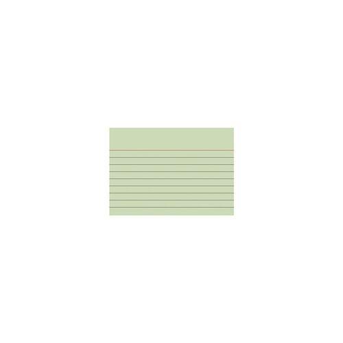 Brunnen Karteikarten A7 quer (74 x 105 mm), liniert grün, Brunnen, 10.5x7.4 cm