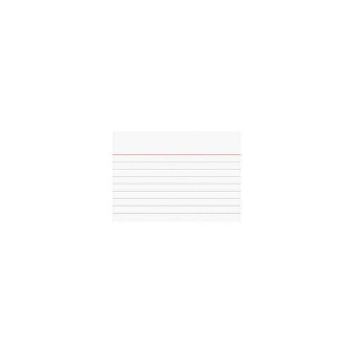 Brunnen Karteikarten A7 quer (74 x 105 mm), liniert weiß, Brunnen, 10.5x7.4 cm
