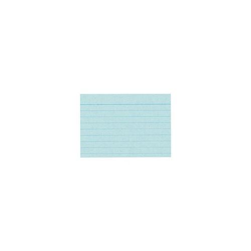 Brunnen Karteikarten A8 quer (52 x 74 mm), liniert blau, Brunnen, 7.4x5.2 cm