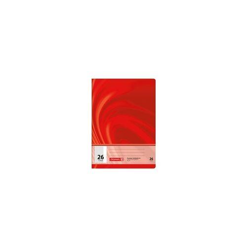 Brunnen Schulheft »Vivendi 104472602« A4 kariert (Lineatur 26) rot, Brunnen
