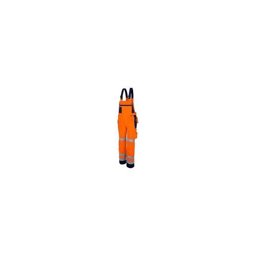 Qualitex Latzhose »pro Warnschutz mg 245« Größe 52 orange, Qualitex