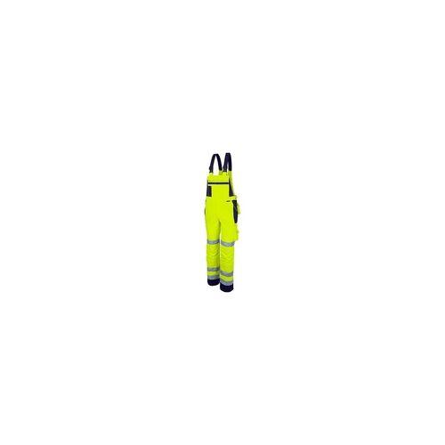 Qualitex Latzhose »pro Warnschutz mg 245« Größe 52 gelb, Qualitex