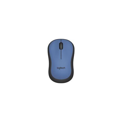 Logitech Kabellose PC-Maus »M220 Silent« blau, Logitech, 9.9x6x3.9 cm