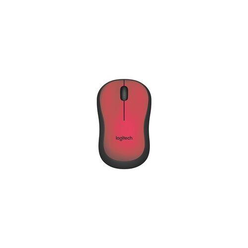 Logitech Kabellose PC-Maus »M220 Silent« rot, Logitech, 9.9x6x3.9 cm
