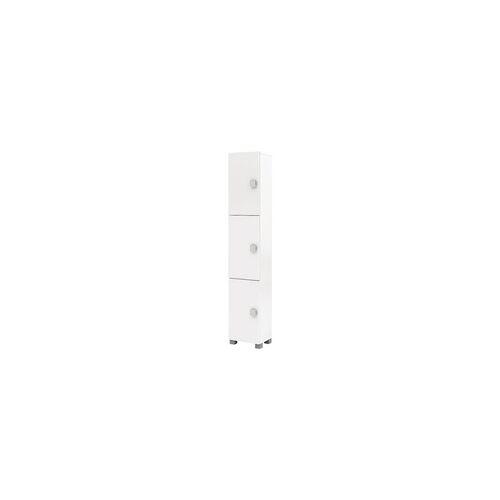 MÖBELPARTNER Hochschrank »Edia Bad« weiß, Möbelpartner, 30x167.5x21.5 cm