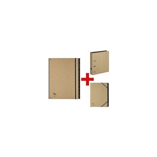 Pagna 3-tlg. Ordner- und Mappen-Set »Pur«, Pagna, 26.5x34 cm