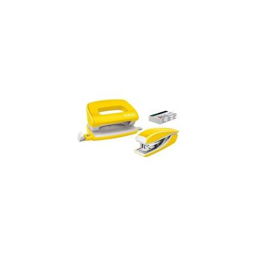 Leitz Locher-Tacker-Büroset »NeXXt WOW Mini 5561« gelb, Leitz