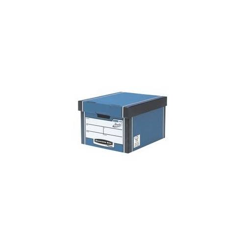 Bankers Box System Archiv-Container 33/38,1/25,4 cm - 10 Stück blau, Bankers Box System, 33x25.4x38.1 cm