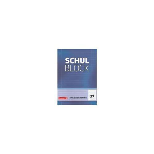 Brunnen Schulblock »1052527« A4 liniert (Lineatur 27) blau, Brunnen