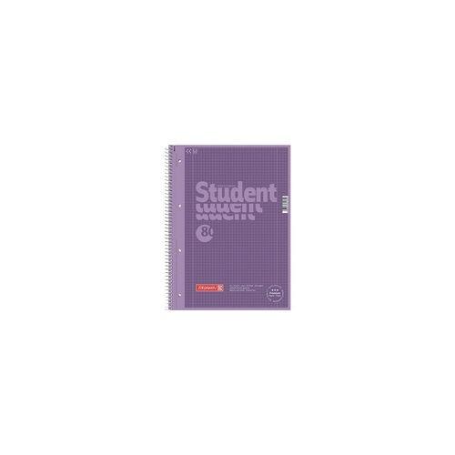 Brunnen Collegeblock »Colour Code« A4 kariert, holzfreies Papier lila, Brunnen