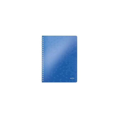 Leitz Collegeblock »WOW 4638« A4 kariert, FSC-Papier blau, Leitz