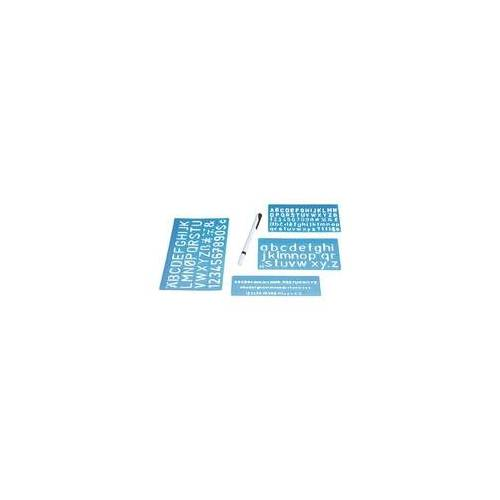 Wedo Schriftschablonen-Set blau, Wedo