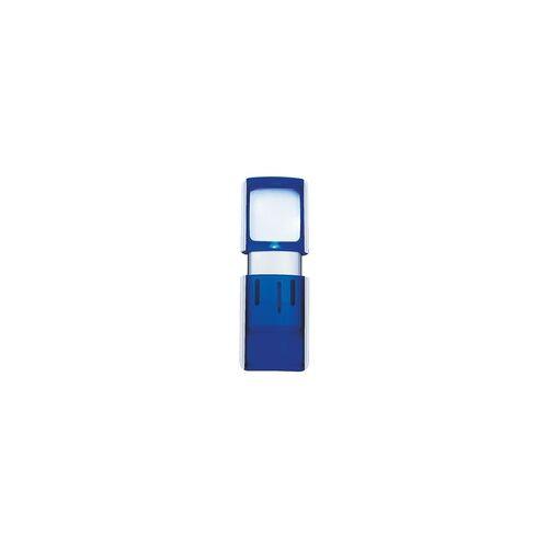 Wedo Rechtecklupe blau, Wedo, 4.7x11.8x1.4 cm