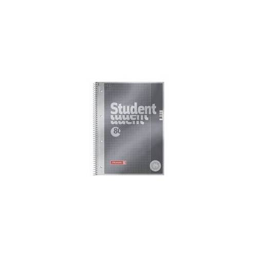 Brunnen Collegeblock »Student Premium« A4 kariert (26), Premium-Papier, Brunnen