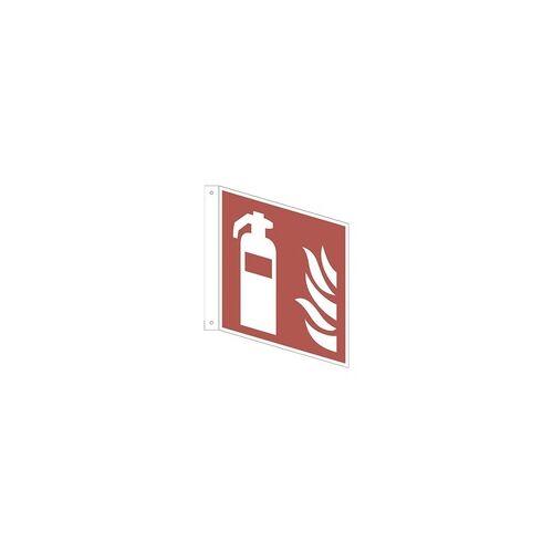 OTTO Office Sicherheitskennzeichen »Feuerlöscher [F001]« Fahnenschild 20 x 0,1 x 20 cm mehrfarbig, OTTO Office, 20x20 cm