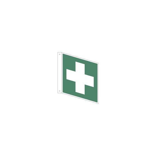 OTTO Office Sicherheitskennzeichen »Erste Hilfe [E003]« Fahnenschild 15 x 0,1 x 15 cm mehrfarbig, OTTO Office, 15x15 cm