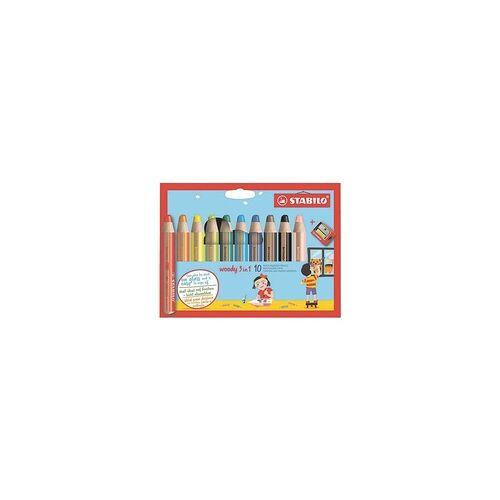Stabilo 10er-Pack Buntstift »Woody 3 in 1«, Stabilo