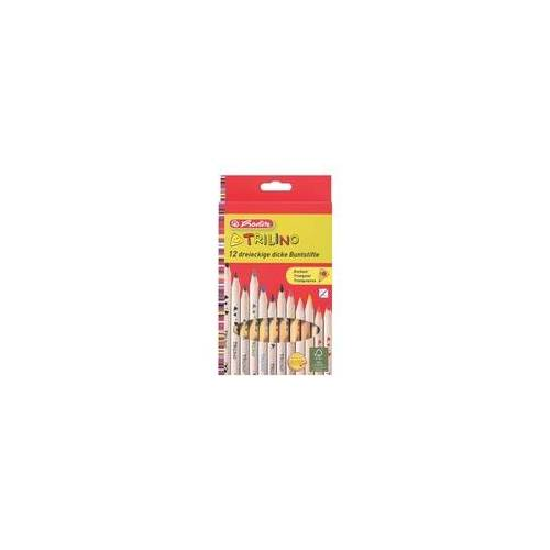 Herlitz 12er-Pack Holz-Buntstifte »Trilino«, Herlitz