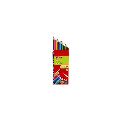 Herlitz 12er-Pack Holz-Buntstifte, Herlitz