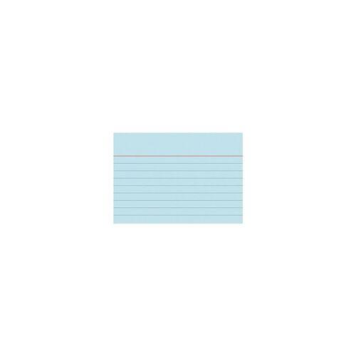 Brunnen Karteikarten A7 quer (74 x 105 mm), liniert blau, Brunnen, 10.5x7.4 cm