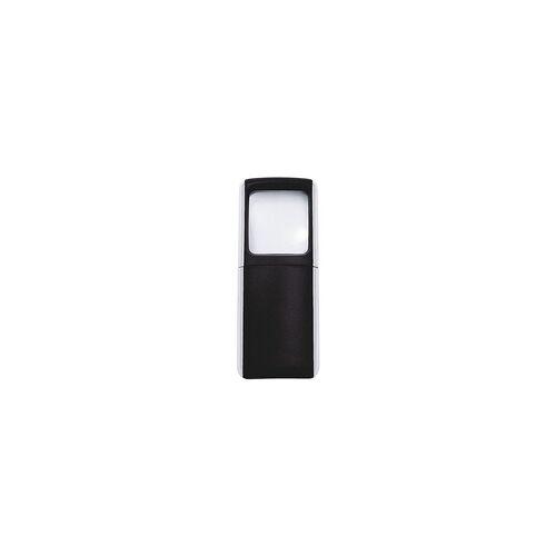 Wedo Rechtecklupe schwarz, Wedo, 4.7x11.8x1.4 cm