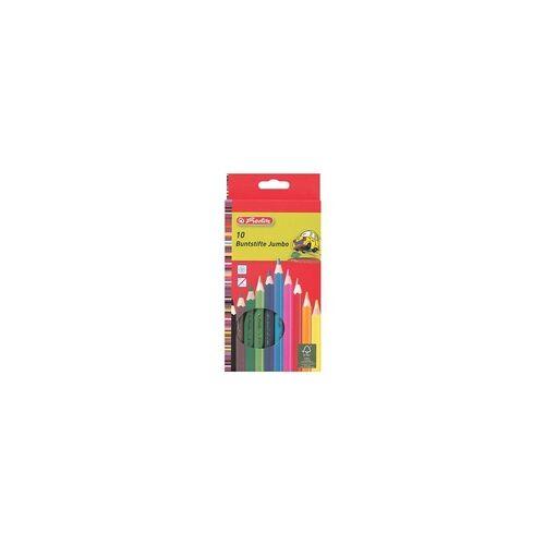 Herlitz 10er-Pack Holz-Buntstifte »Jumbo«, Herlitz