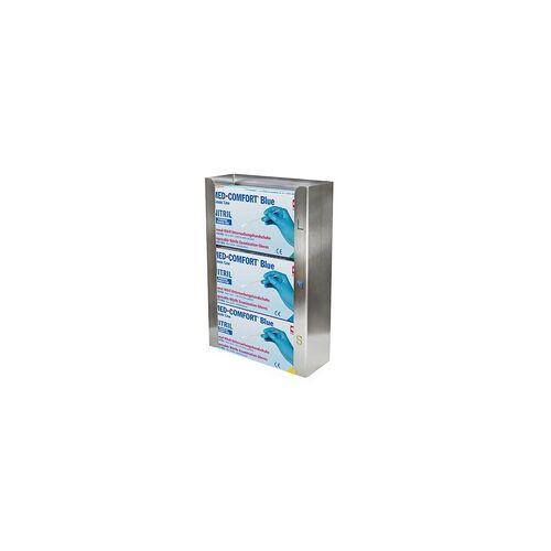 Ampri Handschuhspender Edelstahl TRIO 258 x 392 x 96 mm für 3 Handschuhboxen