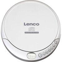 Lenco CD-201 Tragbarer CD-Player CD, CD-R, CD-RW, MP3 Akku-Ladefunktion Silber