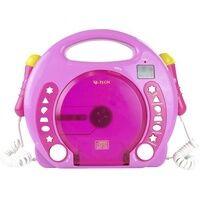 X4-Tech Bobby Joey Kinder CD-Player CD, SD, USB Inkl. Mikrofon Pink