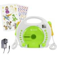 X4-Tech Kinder CD-Player Bobby Joey CD, SD, USB Inkl. Karaoke-Funktion, Inkl. Mikrofon