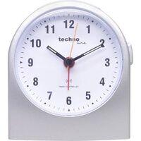 Technoline Techno Line WT 753 Funk Wecker Silber Alarmzeiten 1 Fluoreszierend Zeiger