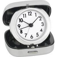 TFA Dostmann 60-1012 Quarz Wecker Silber Alarmzeiten 1
