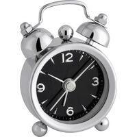 TFA Dostmann 60.1000.01 Quarz Wecker Chrom Alarmzeiten 1