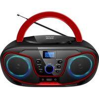 Silva Schneider MPC 19.4 USB CD-Radio UKW AUX, CD, USB Schwarz, Rot