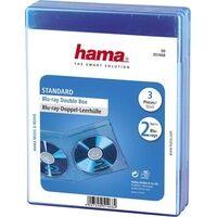 Hama 2fach Blu-ray Hülle 2 CDs/DVDs/Blu-rays Polypropylen Blau 3 St. (B x H x T) 135 x 170 x 10mm 0