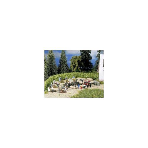 NOCH 14874 H0 Beerdigungs-Zubehör Bemalt