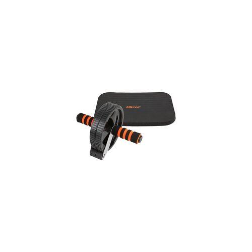 V3TEC AB Wheel Bauchtrainer schwarz/orange