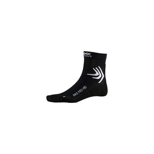 X-SOCKS Biking Pro Mid Socken Unisex opal black 39-41