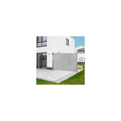 DEMA Seitenmarkise Seitenrollo Sichtschutz Windschutz Markise 180 x 300 cm Grau
