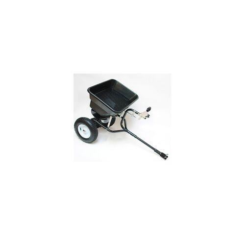 DEMA Streuwagen / Schleuderstreuer für Rasentraktor 45 Liter mit Anhängerkupplung