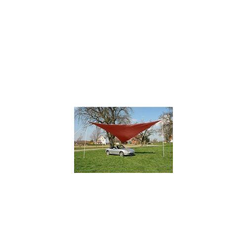 DEMA Sonnensegel Dreieck rot 5 x 5 x 5 m Tragetasche Sonnenschutz Beschattung