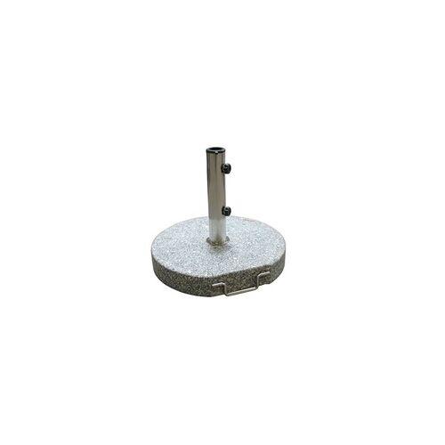 DEMA Sonnenschirmständer / Schirmständer rund 45 cm Granit grau 30 kg Schirmfuß