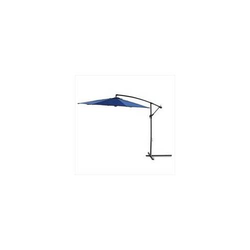 DEMA Ampelschirm 3 Meter blau Sonnenschirm Gartenschirm Schirm Sonnenschutz