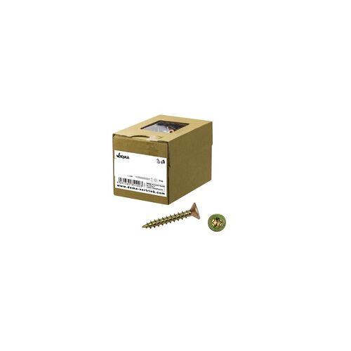 DEMA Spanplattenschrauben Holzschrauben Schrauben Senkkopf versch. Größen Ø 3 - 6 mm, Auswahl: 4.5x50 / 308 St. (923398 - 35108)