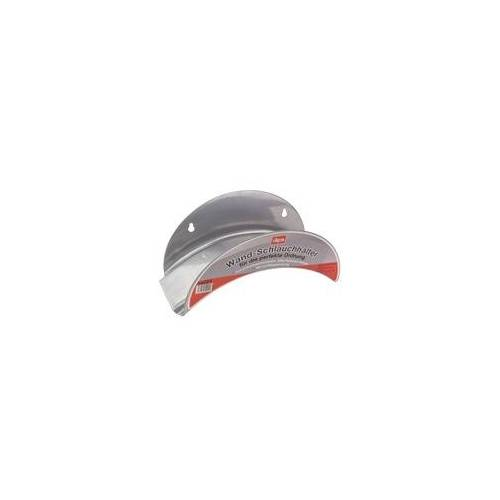 DEMA Wand Metall Schlauchhalter / Wandschlauchhalter silber