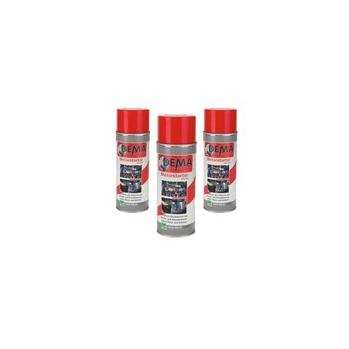 DEMA Auto Kontaktspray / Starthilfespray PRO 400 ml 3-er SET Starthilfe