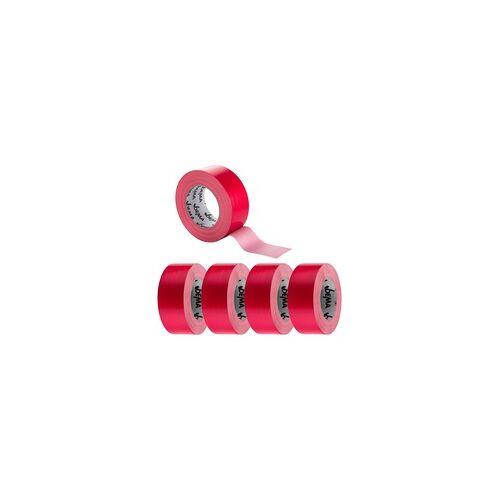 DEMA 5x Gewebeband / Gewebeklebeband 50 mm x 50 m Rot